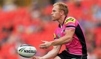 SYDNEY, AUSTRALIA - FEBRUARY 21:  Peter Wallace of the Panthers in action during the NRL Trial Match between the Penrith Panthers and the Parramatta Eels at Sportingbet Stadium on February 21, 2015 in Sydney, Australia.  (Photo by Mark Metcalfe/Getty Images)