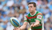 GOLD COAST, AUSTRALIA - MAY 30:  Luke Keary of the Rabbitohs passes the ball during the round 12 NRL match between the Gold Coast Titans and the South Sydney Rabbitohs at Cbus Super Stadium on May 30, 2015 on the Gold Coast, Australia.  (Photo by Matt Roberts/Getty Images)