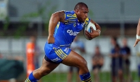 DARWIN, AUSTRALIA - AUGUST 08:  Junior Paulo of the Eels on the charge during the round 22 NRL match between the Parramatta Eels and the Penrith Panthers at TIO Stadium on August 8, 2015 in Darwin, Australia.  (Photo by Renee McKay/Getty Images)