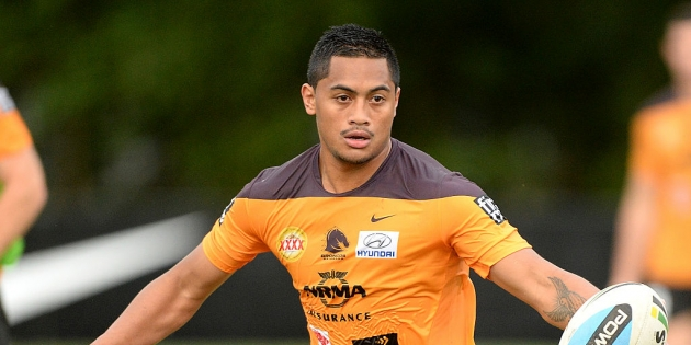 BRISBANE, AUSTRALIA - SEPTEMBER 29:  Anthony Milford in action during the Brisbane Broncos NRL training session on September 29, 2015 in Brisbane, Australia.  (Photo by Bradley Kanaris/Getty Images)