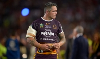 SYDNEY, AUSTRALIA - OCTOBER 04: /Corey Parker of the Broncos shows his dejection after defeat during the 2015 NRL Grand Final match between the Brisbane Broncos and the North Queensland Cowboys at ANZ Stadium on October 4, 2015 in Sydney, Australia.  (Photo by Brett Hemmings/Getty Images)