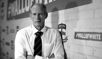 MANCHESTER, ENGLAND - FEBRUARY 18:  (EDITORS NOTE: Image has been converted to Black & White) Wayne Bennett, the newly appoint England rugby league coach faces the media on February 18, 2016 in Manchester, England.  (Photo by Jan Kruger/Getty Images)